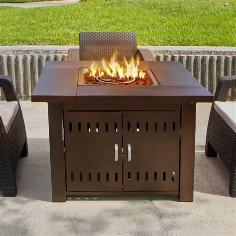 Outdoor Propane Gas Pit New Outdoor Pit Square Table Firepit Propane Gas