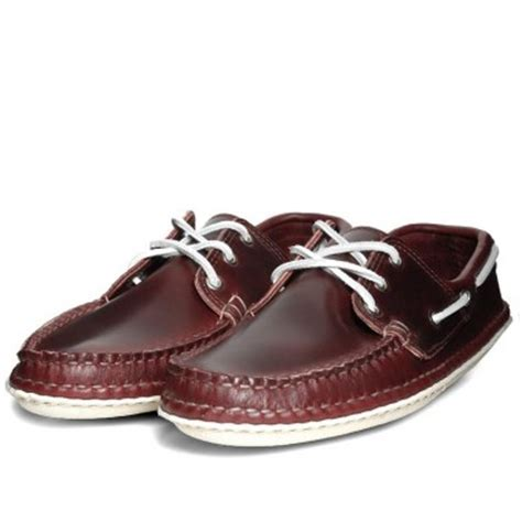 Handmade Moccasins Maine - quoddy burgandy moccasins of the week