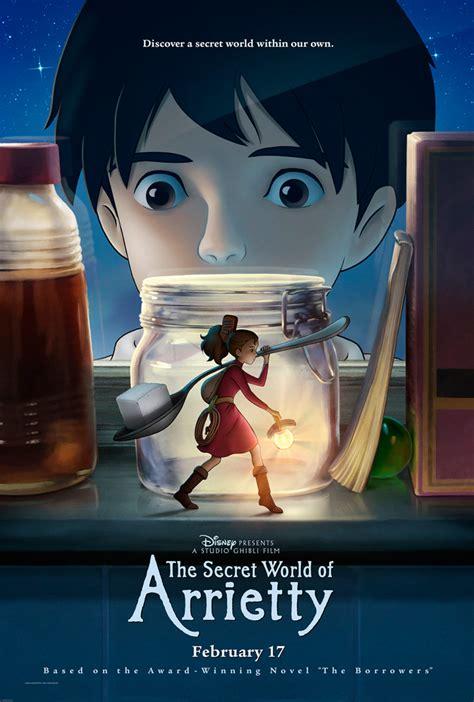 film anime japan movie poster for the secret world of arrietty geektyrant