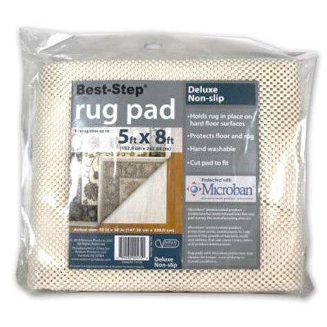 home depot rug pad best step 5 ft x 8 ft deluxe rug pad d58 km the home depot
