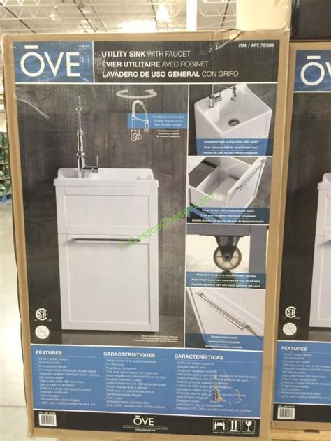 laundry sink cabinet costco ove 22 utility cabinet with sink faucet