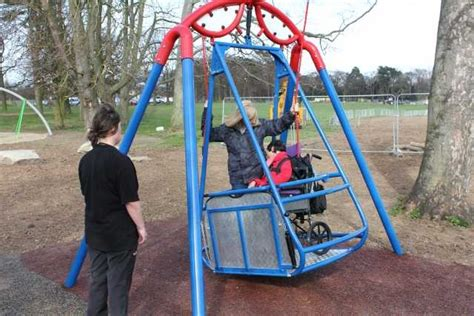 wheelchair swing set delightful iswing the wheelchair accessible swing