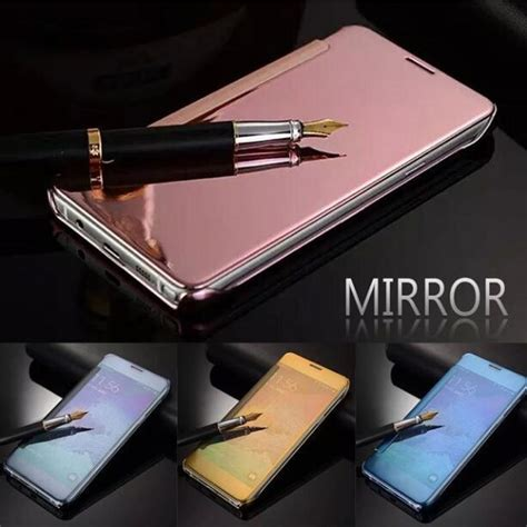Flip Cover Samsung J7prime mirror smart clear view window flip cover for samsung