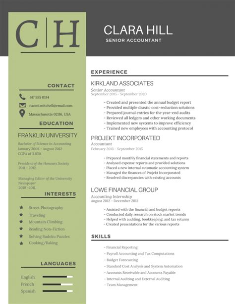 Graphic Design Resume Sle Resume Resume Design Templates