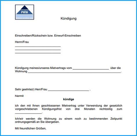 wohnung kündigungsschreiben kostenlos 7 k 252 ndigung mietvertrag vorlage kostenlos rechnungsvorlage