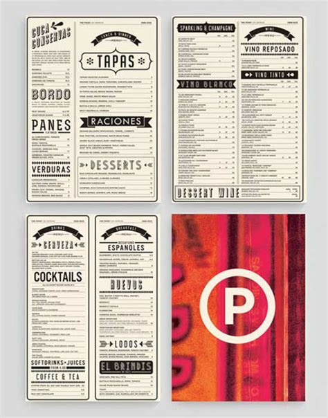 menu design products 33 creative table menu designs for restaurants menu