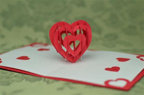 3D Heart Pop Up Card Template