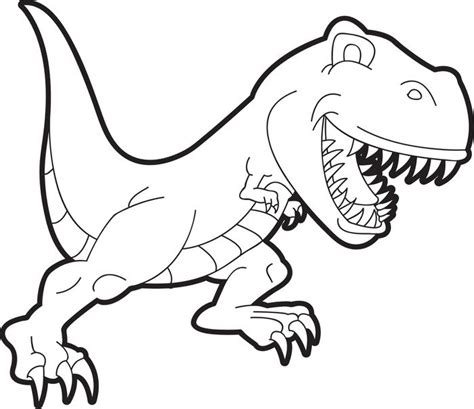 free printable t rex dinosaur coloring page for kids