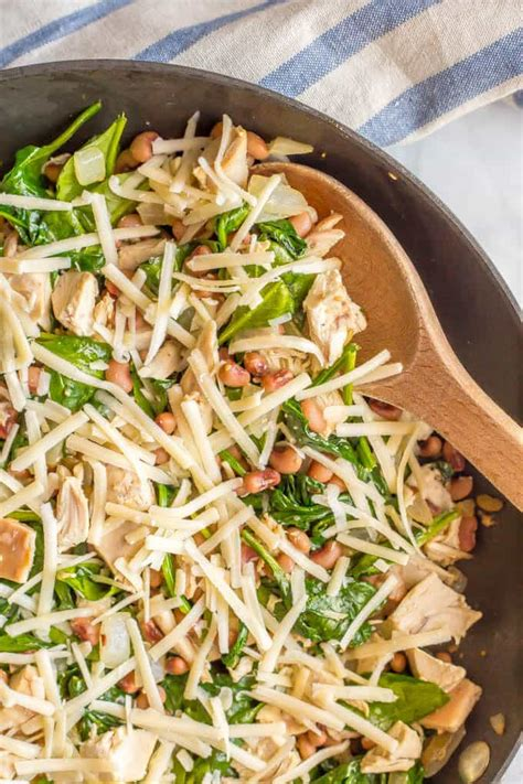 southern new year s day dinner skillet family food on one pot low carb leftover chicken recipe with spinach