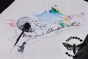 dandelion watercolor by dopeindulgence on deviantart