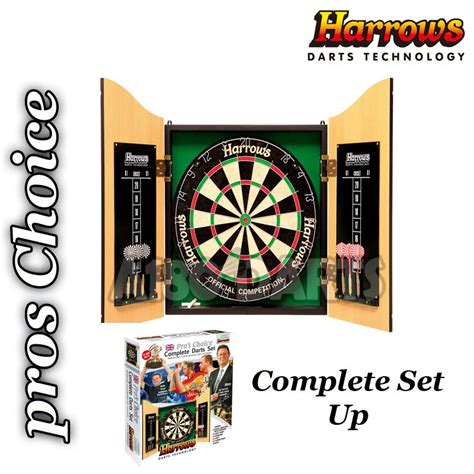 harrows pros choice dartboard cabinet combo
