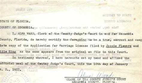 Escambia County Marriage Records County Individual Marriages King Johnson
