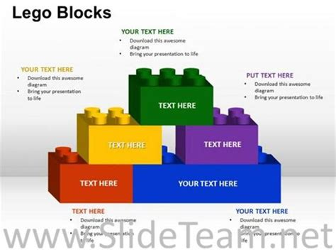 Building Lego Bricks Ppt Template Powerpoint Diagram Building Blocks Powerpoint Template