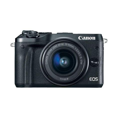 Kamera Canon Eos M6 Jual Canon Eos M6 Kit 15 45mm Kamera Mirrorless Black Harga Kualitas Terjamin