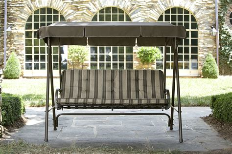 Patio Swings Garden Oasis 3 Seat Swing With Canopy Limited