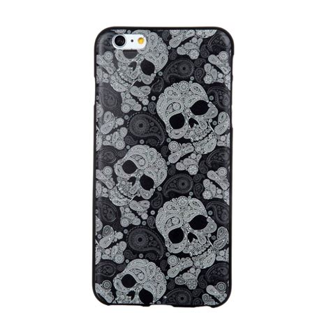 Softcase Iphone6 3 design 3d softcase hoesje iphone 6 6s schedel