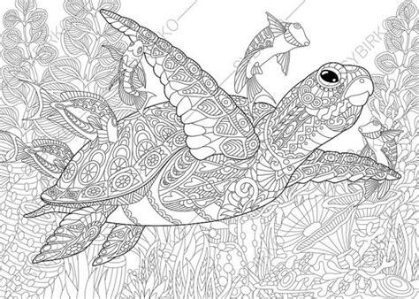 coloring pages for adults turtles adult coloring page sea turtle zentangle by
