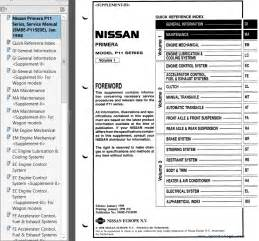 Nissan Service Manual Pdf Nissan Primera Model P11 Series Service Manual Pdf Repair