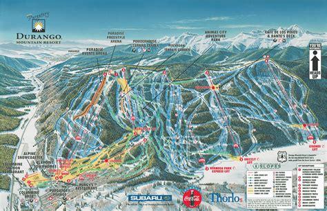 map of ski resorts in usa durango ski map free