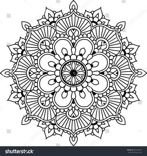 Läuse An Blumen 4425 by Simple Floral Mandala Design Mehendi Stock Vektor