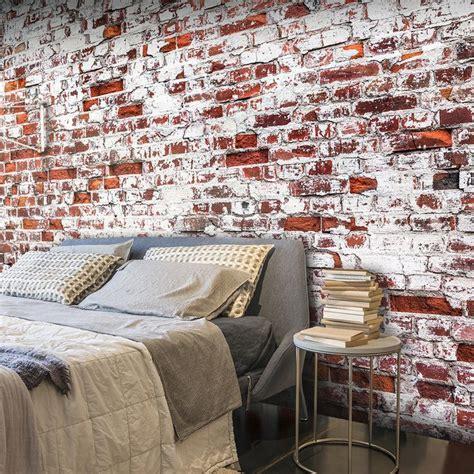 flur gestalten mit steintapete 25 best ideas about backstein schlafzimmer auf