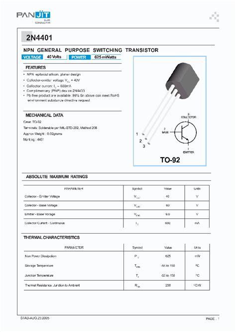 transistor a564 datasheet pdf 2n4401 4100106 pdf datasheet ic on line