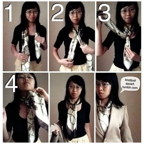 tutorial ways to wear a scarf knot just a scarf ways to tie a silk scarf tutorial 43