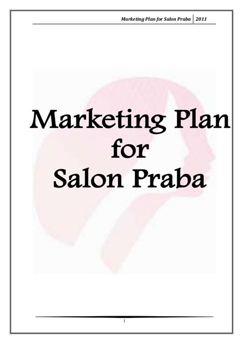 Marketing Plan For Salon Praba | marketing plan for salon praba