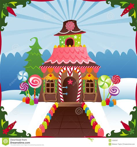 snowy gingerbread house royalty  stock photography