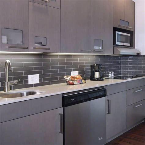 gray glass tile kitchen backsplash mosaic monday glass backsplash tile inspirations for your kitchen