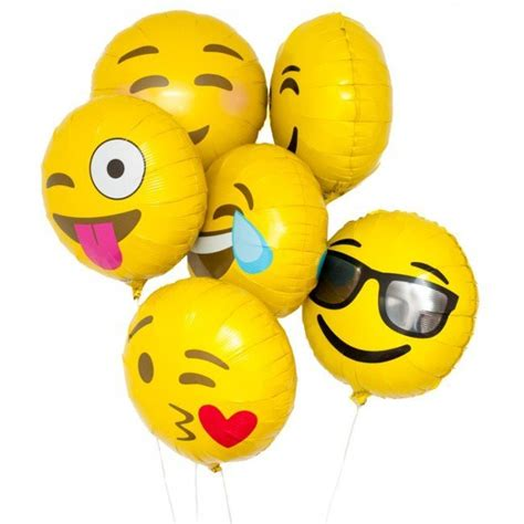 Diskon Balon Foil Emoji Emoticon New emoji foil balloons candle cake shop
