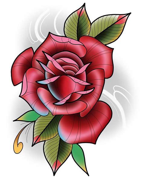 scarlett rose tattoo neotraditional by darin blank instagram