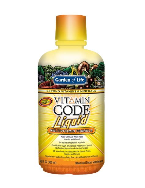 Garden Of Liquid Multivitamin Reviews Garden Of Vitamin Code Multivitamin Liquid Orange