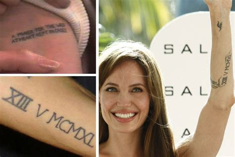 tattoo on angelina jolie s hand b p a blog by young people in gatesheadcelebrity