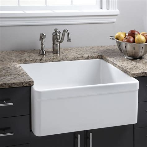 Kitchen Sinks Porcelain White Porcelain Kitchen Sink Small Masata Design