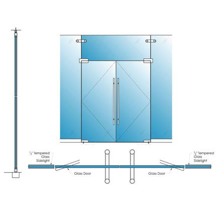swing door detail single glazed glass herculite doors avanti systems usa