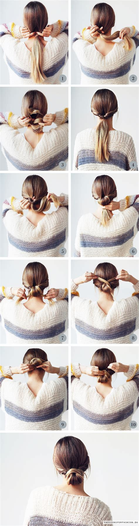 Hairstyles Buns Step By Step by Step By Step Bun Twisted Bun Pony Tails And Buns
