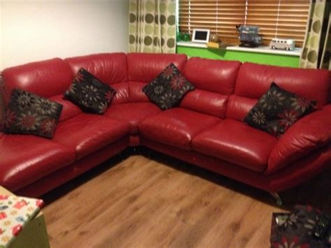 red leather couch for sale red leather corner couch with 6 cushions for sale in
