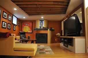 Low Ceiling Basement Remodeling Ideas Orange Basement Ideas Terrys Fabrics S