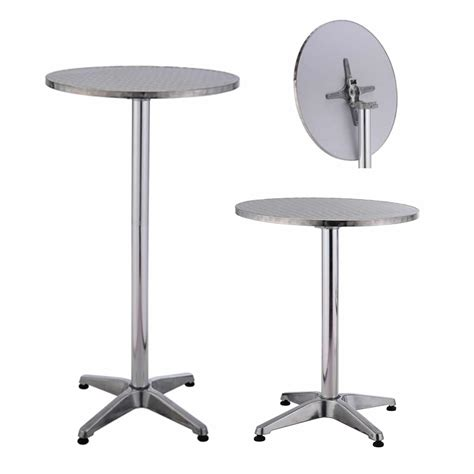 bar bench table aluminium bar table folding top with base weight