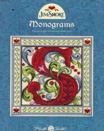 monograms (jim shore) cross stitch pattern. 40 page