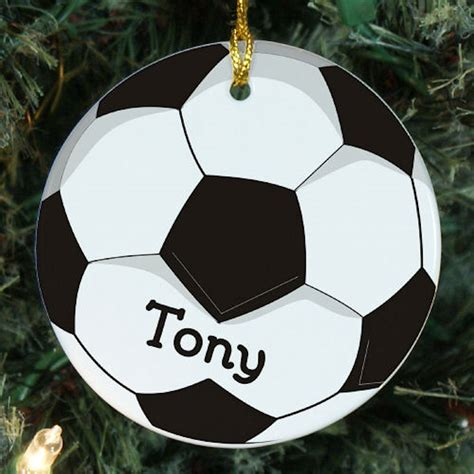personalized soccer ball christmas ornament neat stuff gifts