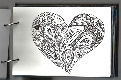 heart mandala my notebook pinterest mandala painting