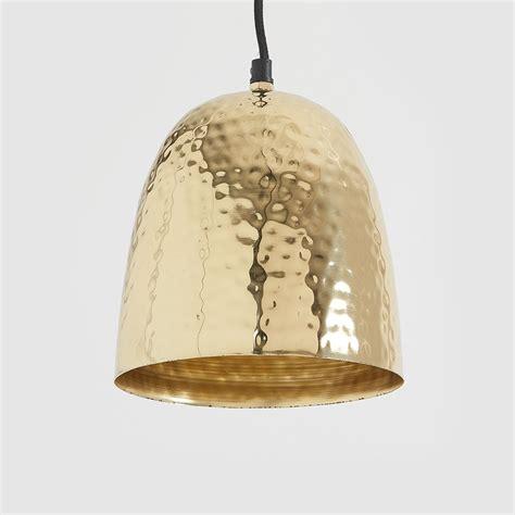 brass pendant light hammered brass pendant light