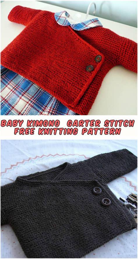 free knitting pattern newborn kimono baby kimono knitting garter stitch free pattern diy