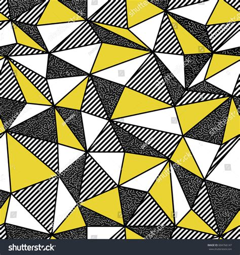 geometric pattern repeats geometric seamless pattern retro style vintage stock