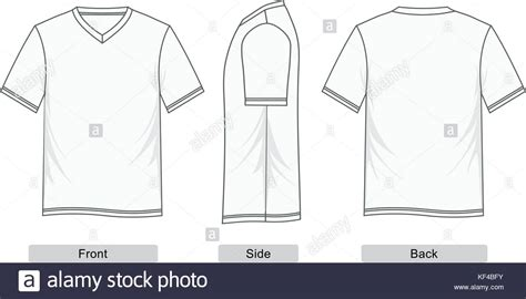 T Shirt Short Sleeve V Neck Templates Colorful Men Fashion Vector Stock Vector Art Sleeve T Shirt Template