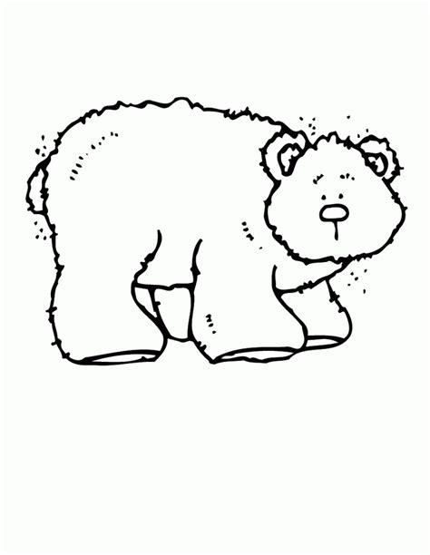 brown bear printables coloring home