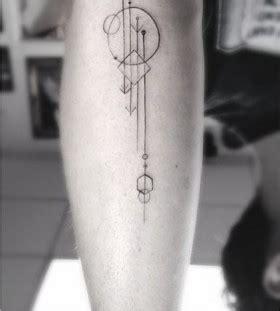 geometric tattoo guitar adorable black geometric tattoo on leg