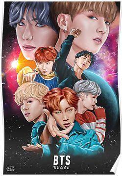 bts dna fan art poster bts bts fans bts wallpaper